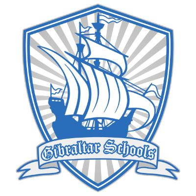 Gibraltar School District Logo a ship and the words Gibraltar Schools